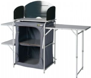 Eurotrail Kitchen table Seine Cooker Stand Larder